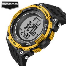 bd25c14c572c Sanda 341 hombres reloj militar deportes relojes moda silicona impermeable LED  Digital reloj de pulsera para