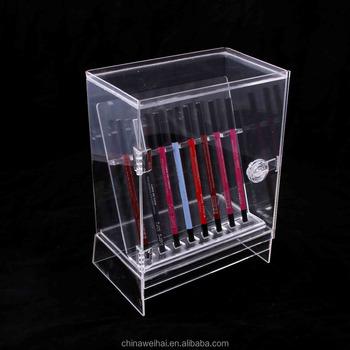 Helder Acryl Pen Display Kast Met Deur En Slot Buy Pen Vitrine Product On Alibabacom