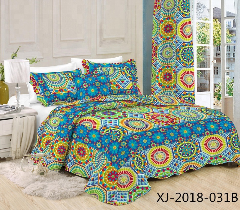 New arrivals soft polyester/cotton fabric patchwork bed spread stitching quilt
