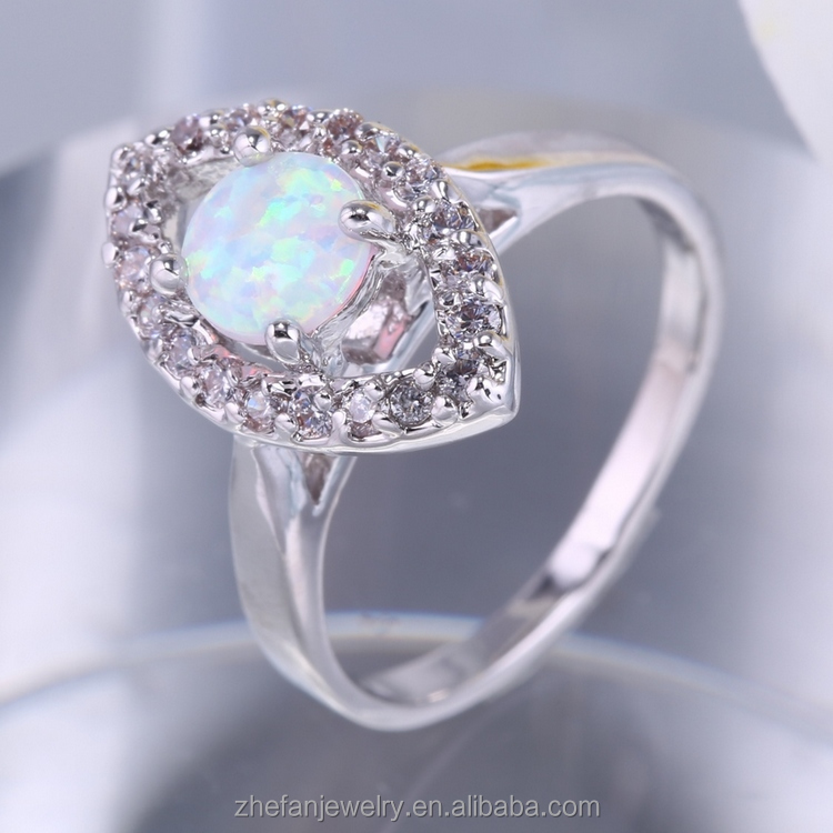 High Quality Luxury Style Pave Setting CZ Crystal Gemstone Rhodium Plated 925 Sterling Silver Ring Jewelry