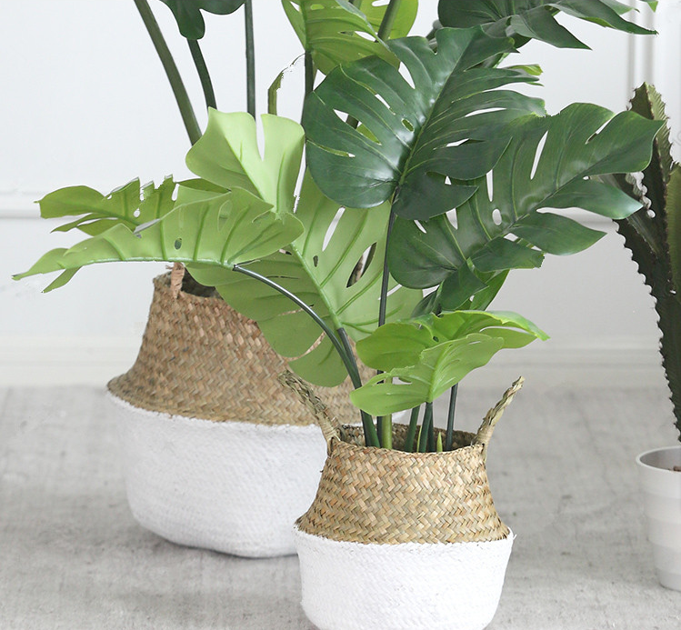 Nordic ins style decorative wicker plant pots indoor