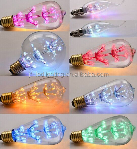 Christmas Lighting Colour LED Filament Bulb RGB Change