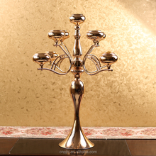 wholesale wedding table centerpiece golden metal candle holder 9 arms candelabra