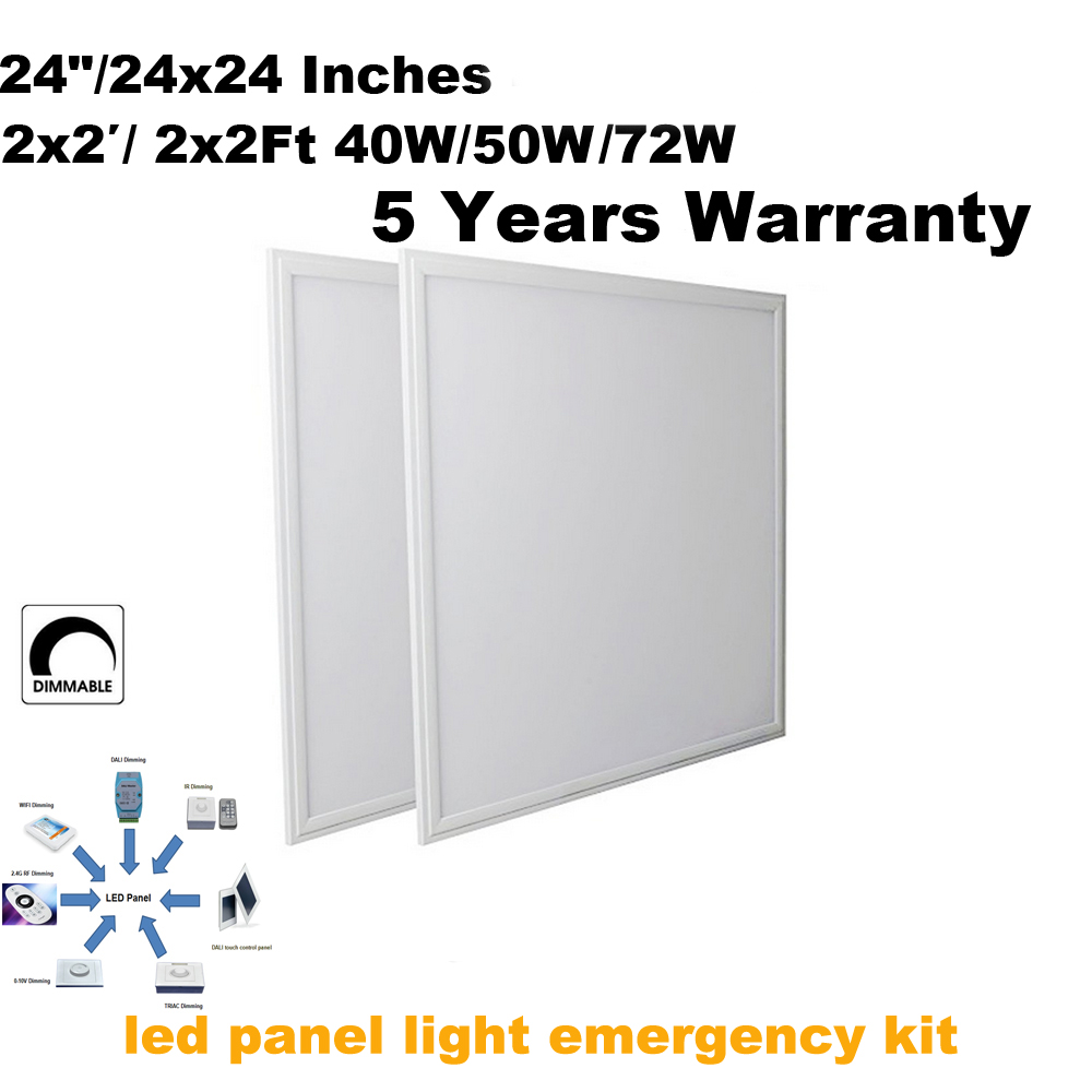 3 hours discharge time Emergency led panel 600x600 with battery back up