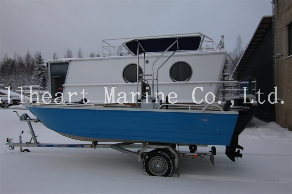 5m High Quality Cheap Aluminum Fishing Boat With Center