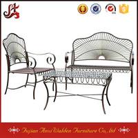 Outdoor Garden Furniture 3 piece Metal Iron Settee Set
