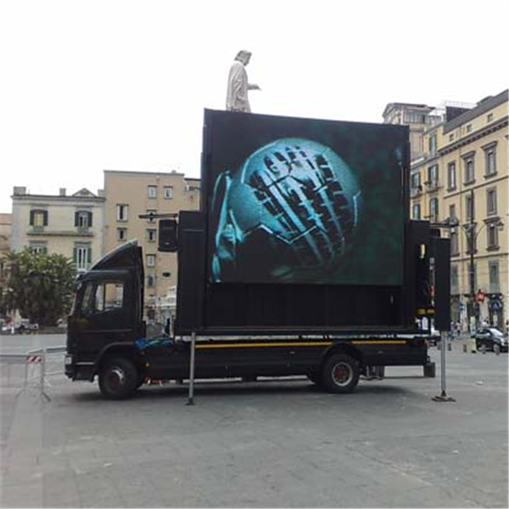 P8 vehicle led display Mobile full color advertising LED Screen In Mexico