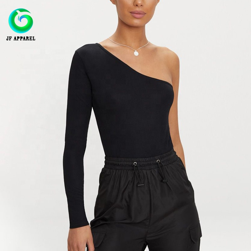 High Quality Branded <strong>Women</strong> Black Sexy Wrap <strong>Bodysuit</strong> Ladies Tops and Blouses
