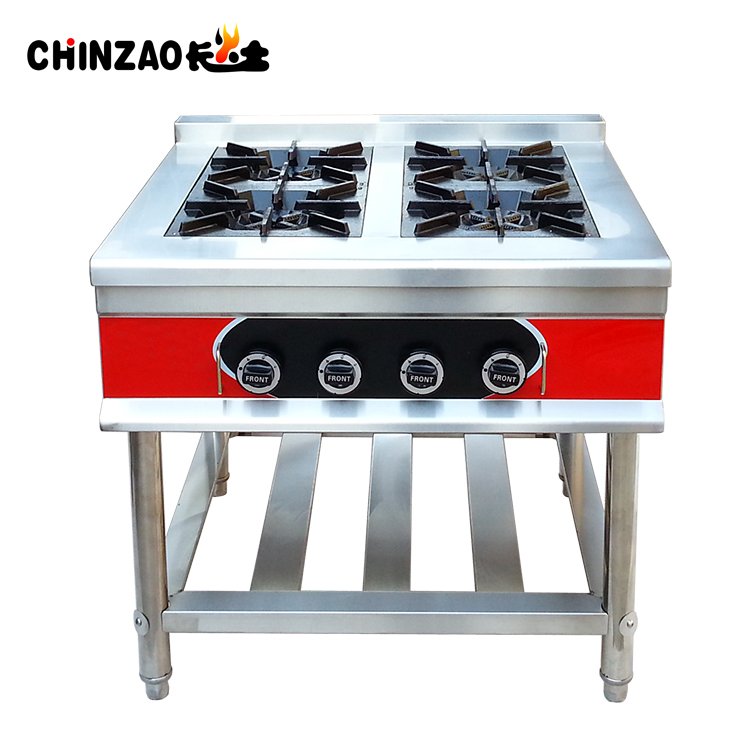 Stainless Steel Gas Stove/ Gas Cooker/ LPG Gas Range industrial gas burner prices GZL-4W