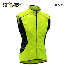 Fluorescent yellow 100% polyester Class 2 High reflective running motorcycle slim breathable safety vest