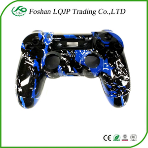 Blue Splatter housing shell for PS4 Replacement Hydro Dipped Custom  Controller Shell Mod Kit