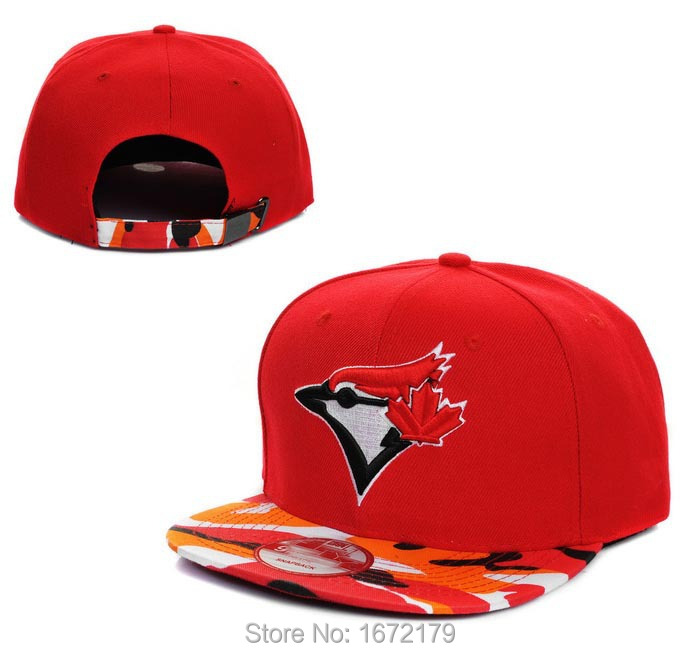 Get Quotations · HIGH QUALITY CHEAP WHOLESALE 2015 MENS TORONTO BLUE JAYS  RED GRAY CAMO STRAIGHT VISOR SNAPBACK CAP 5481bf56786c