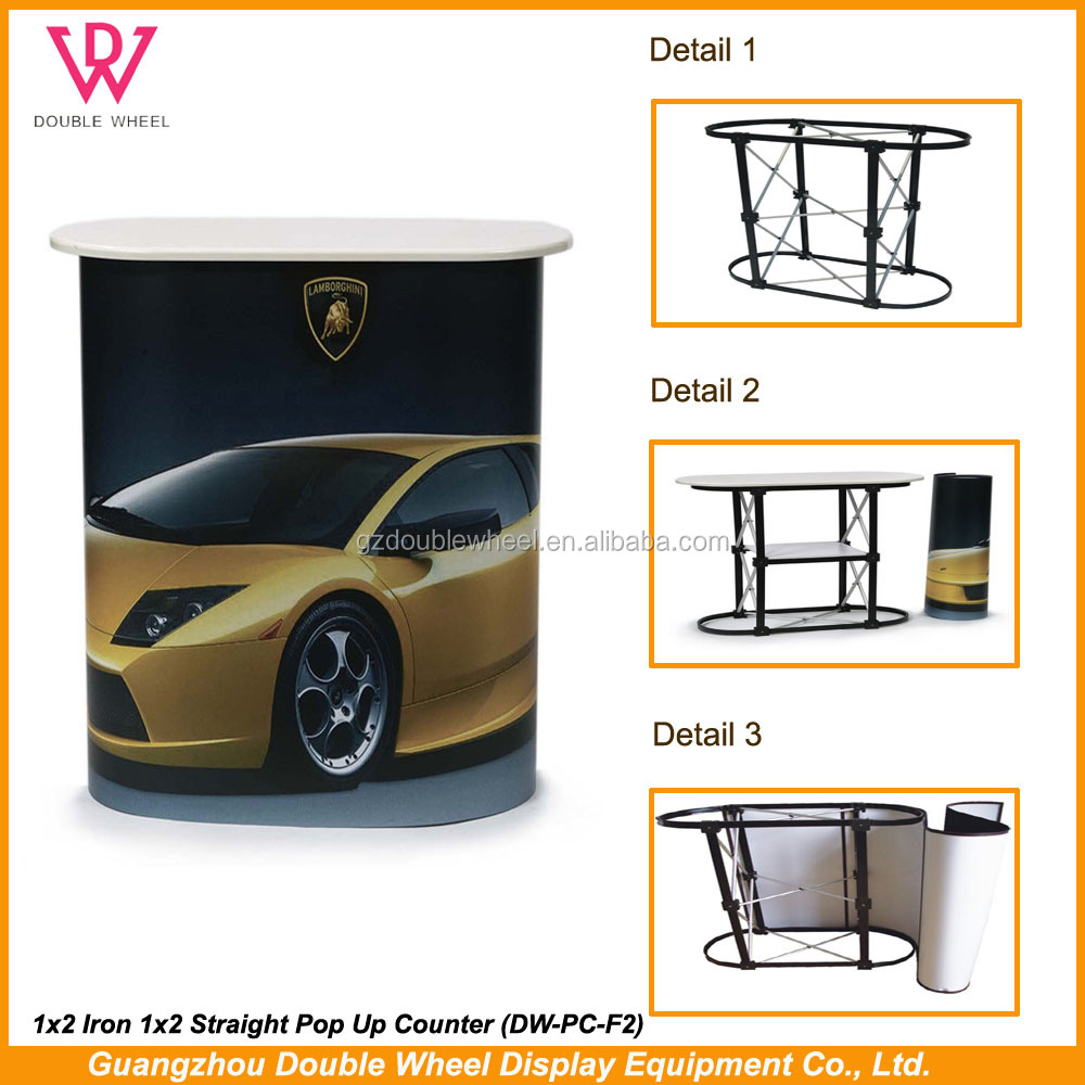 Trade Show Pop Up Counter Portable promotion table, High Quality Promotion Counter
