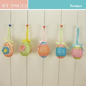 china supplier colorful foam egg toy hanging easter decoration with strong production