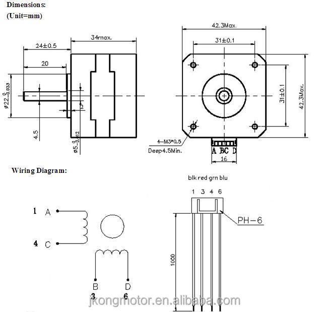 whole 3d printer stepper motor nema17 size d shaft 1 3d printer stepper motor nema17 size d shaft 1 meter leading wires