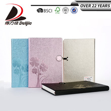 2018 new design note book large stock PU material cover hardcover office or school custom notebook