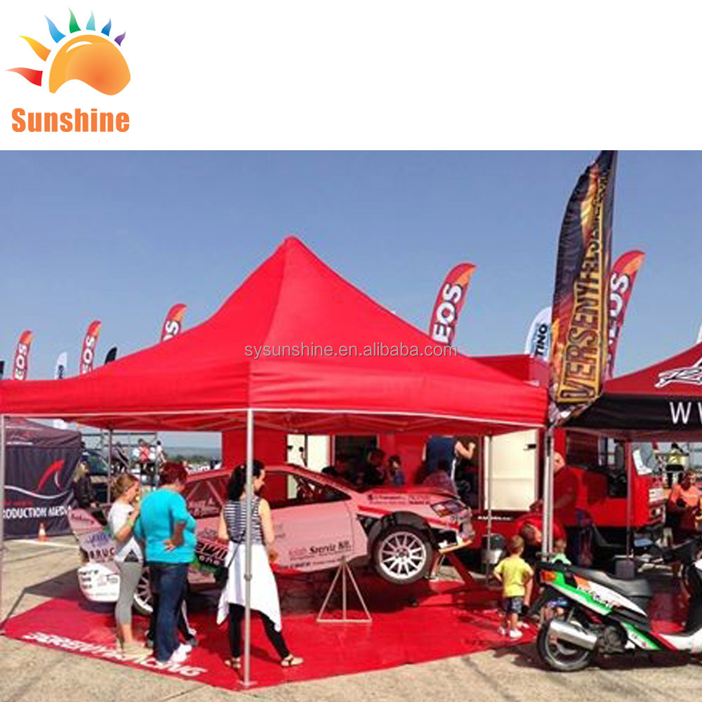 Easy up dye sub print <strong>trade</strong> show commercial exhibition tent custom car display 10x10 canopy tents outdoor