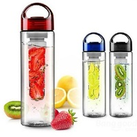 2018 New products sports plastic fruit infuser water drinking bottle with handle