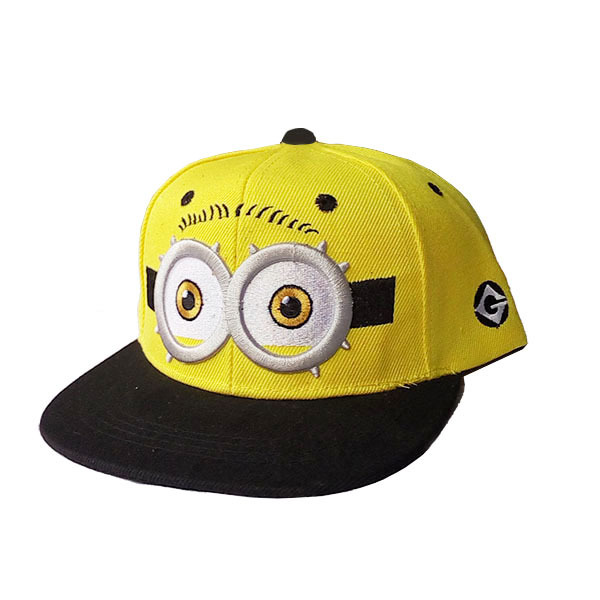 2016 Fashion Snapback Children Cartoon Big Eyes Baseball Cap Spring Summer Visor Flat Hats For Boys