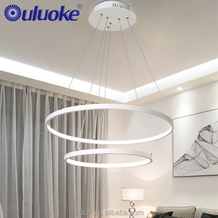 Customized Reasonable Price White Or Black Color Pendant Led Light Office Pendant Light Contemporary Chandelier