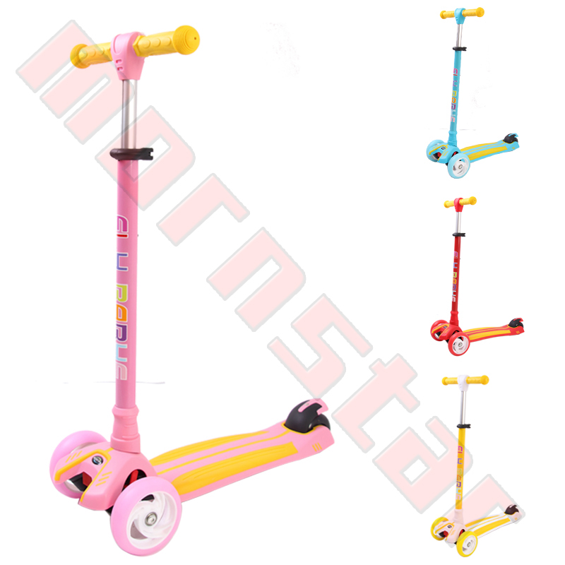 Mini Maxi Kids Double color deck Kick Scooter With Three Flash Wheels