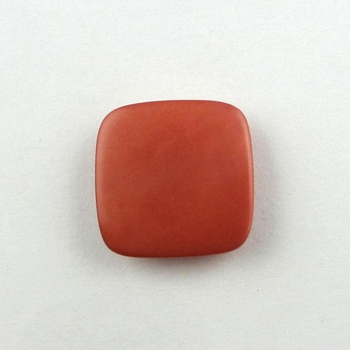 Natural square corozo nut button for lady suit with tunnel hole