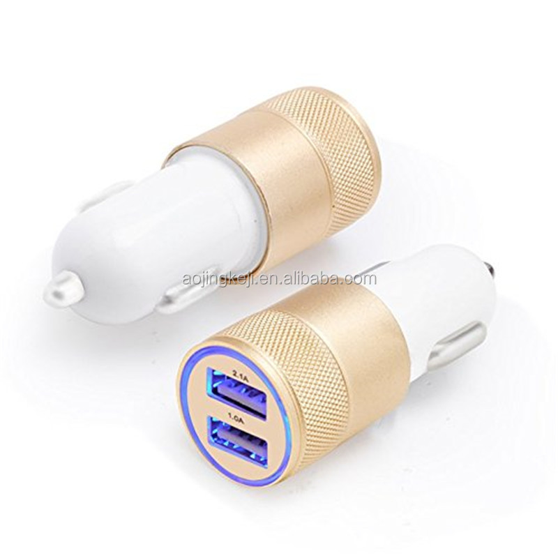 Newest Design 5V/3100MA Portable Mobile Phone Universal Car Charger/ Dual USB 12v car phone chargers universal