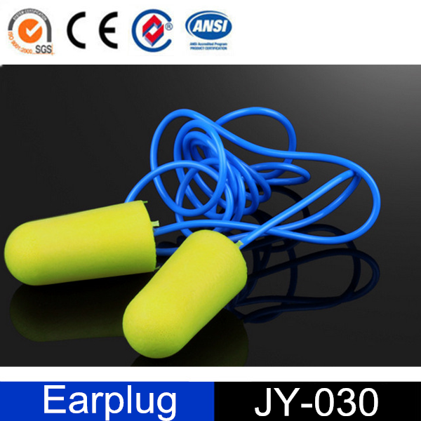 disposable noise reduction orange hearing protector with string