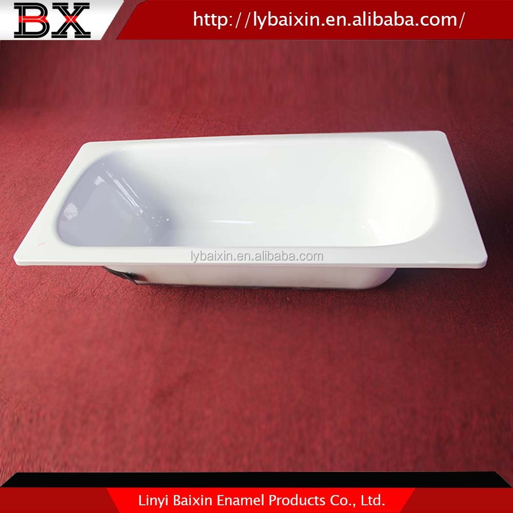 China supplier high quality enalmel steel bathtub for Steel bath vs acrylic
