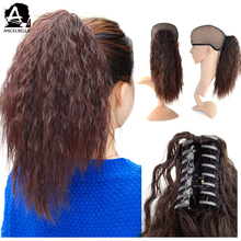 Angelbella 3 Colors Vary Long Size Synthetic Hair Yaki Braids Curly Ponytail Hair