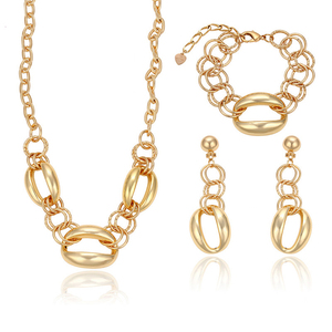 878e56195 63235 xuping Dubai India wedding 18K gold color fashion design luxury  jewelry sets