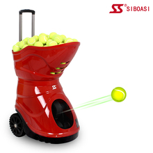 Professional Tennis ball shooting machine with free portable battery and remote control S4015