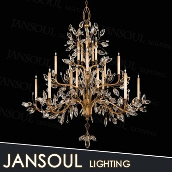 Clic Wrought Iron Chandelier Made In China Vintage Rustic Crystal Pendant Light Fixture With