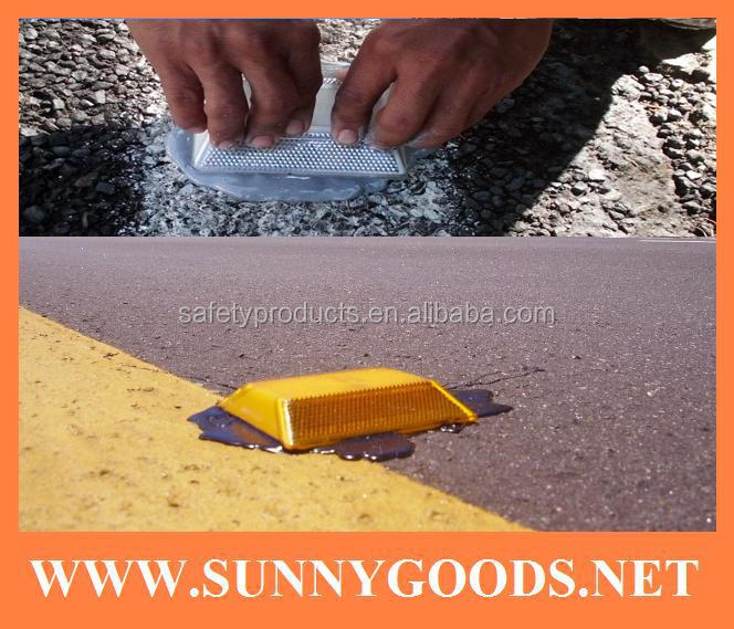 two reflective sides plastic raised pavement marker
