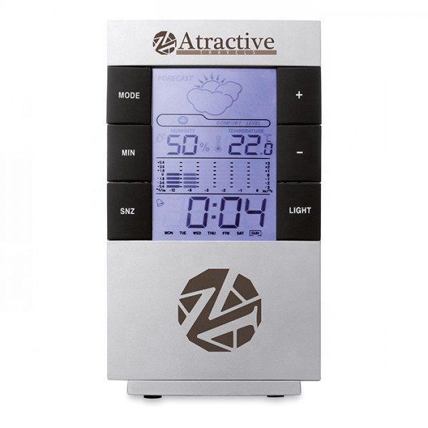 CE led screen thermometer weather station with clock