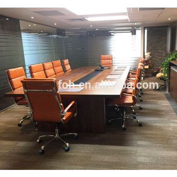High Top Quality Teak Wooden Wood Conference Table For Office Meeting Room Negotiation Used