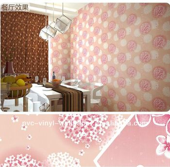 Removable Wallpaper Vinyl Wallpaper Canvas Wall Mural Pink Flower Wallpaper Skum Vinyl Tapet