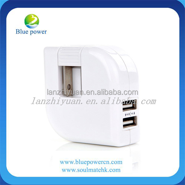 Universal world travel adaptor with 2 usb charger US plug 2A wall usb charger