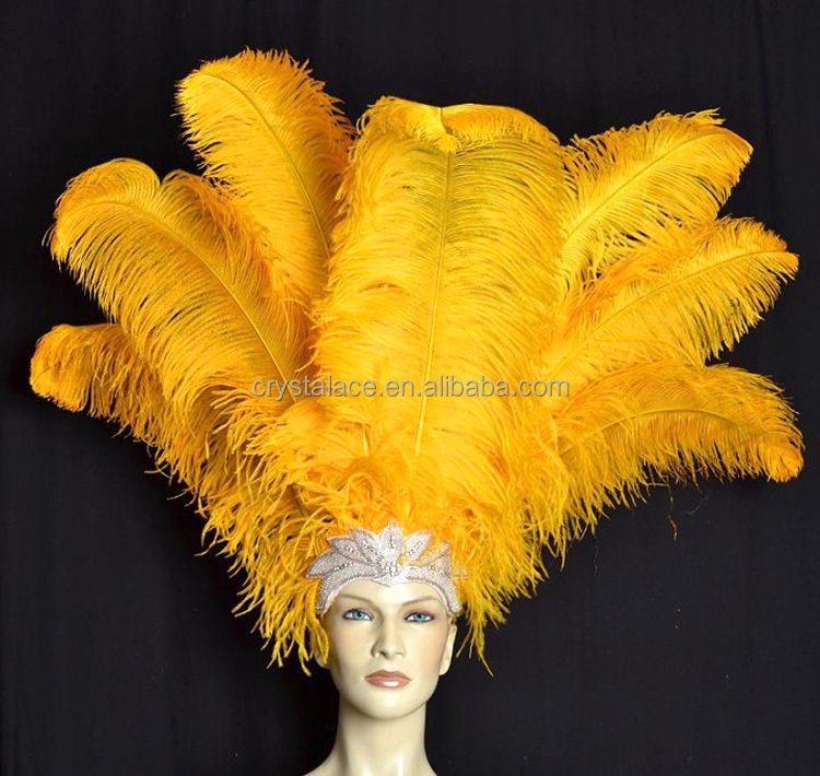 China factory wholesale 65-70cm Gold Ostrich Feather, colour ostrich feather
