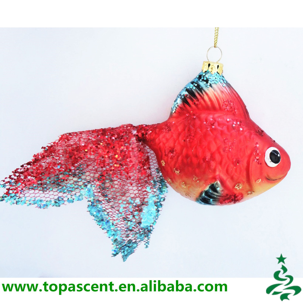 Fish christmas ornaments - Animated Hand Blown Hanging Glass Fish Christmas Ornaments Wholesales From Direct Factory In China