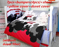 Promotion 6 7PCS Mickey Mouse Baby Bedding piece Set 100 Cotton crib set baby bedding set