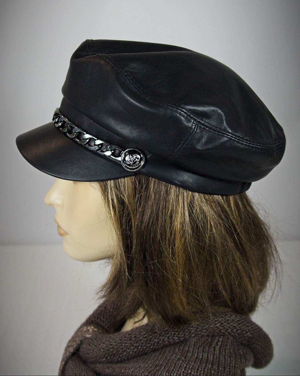 e6e47a998e19 Get Quotations · Cape Breton, Captain Hat, Leather Cap, Baker Boy Cap, Baker  Boy Hat