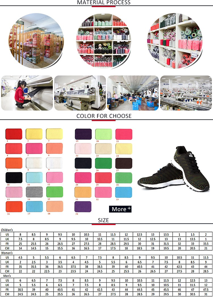 Specialized Best Quality Colorful Running Flyknit Vamp Sports ...