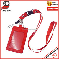 ID Card Holder Vertical Strap Band Neck Lanyard Business Id Credit Card Holder