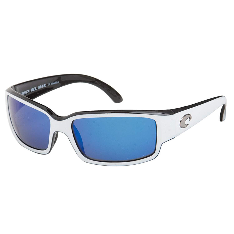 42f77ed239 Costa Del Mar - Caballito - White Black Frame-Blue Mirror Costa 580 Glass  Lenses