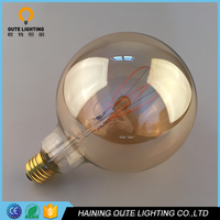 Good Quality OEM Dimmable Curved Decoration G125 LED Filament Bulb