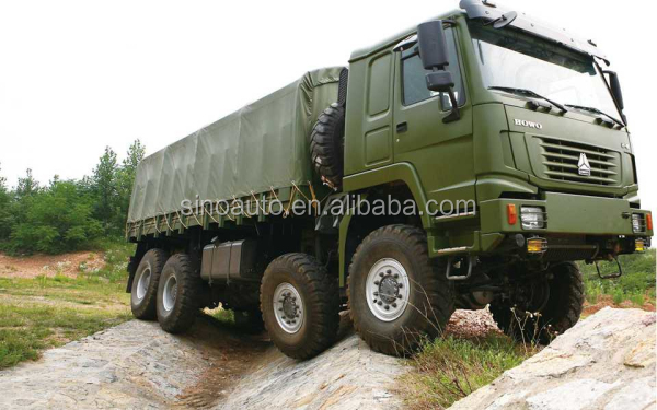 CNHTC HOWO 8x8 all wheel drive military cargo truck for sale