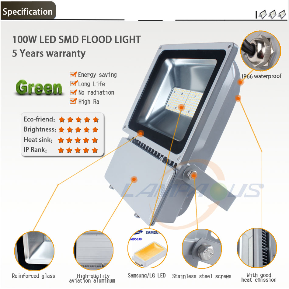 5 Years Warranty Outdoor Led High Power Flood Lighting Reflector ...