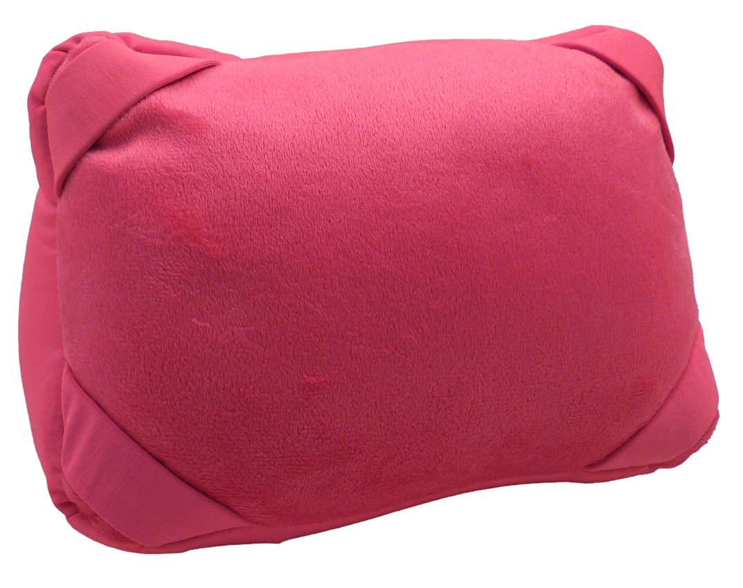 "AMC(TM) 2-in-1 Convertible U-Shaped Travel Pillow and 10"" iPad / Tablet Stand Tropical Pink"