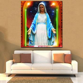Virgin Mary Led Light Canvas Painting Wall Art Painting High Quality Led  Fabric Painting - Buy Led Light Canvas Painting,Wall Art Painting,Led  Fabric
